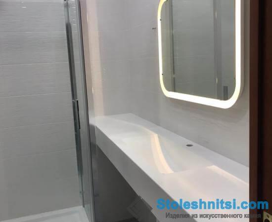 Столешница для ванной комнаты из камня Grandex